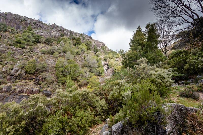 山小河在佩内达Geres,葡萄牙 免版税库存图片