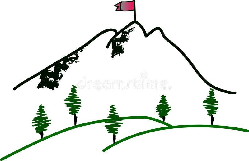 山山顶 向量例证