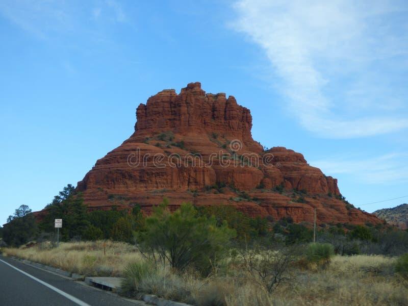 山岩石在Sedona 免版税库存图片