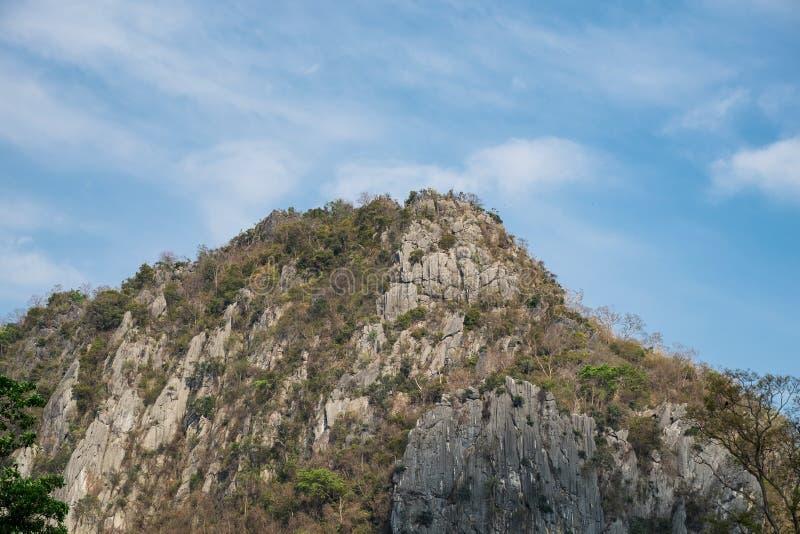 山岩石疾风和烘干 免版税库存图片