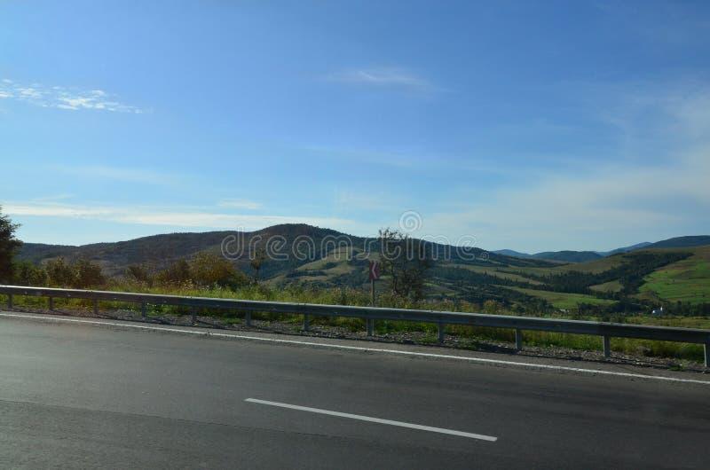 山岭地区的片段在喀尔巴汗,乌克兰 森林由喀尔巴阡山脉的安心原谅 图库摄影