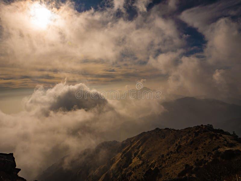 山峭壁日出在印度 库存照片