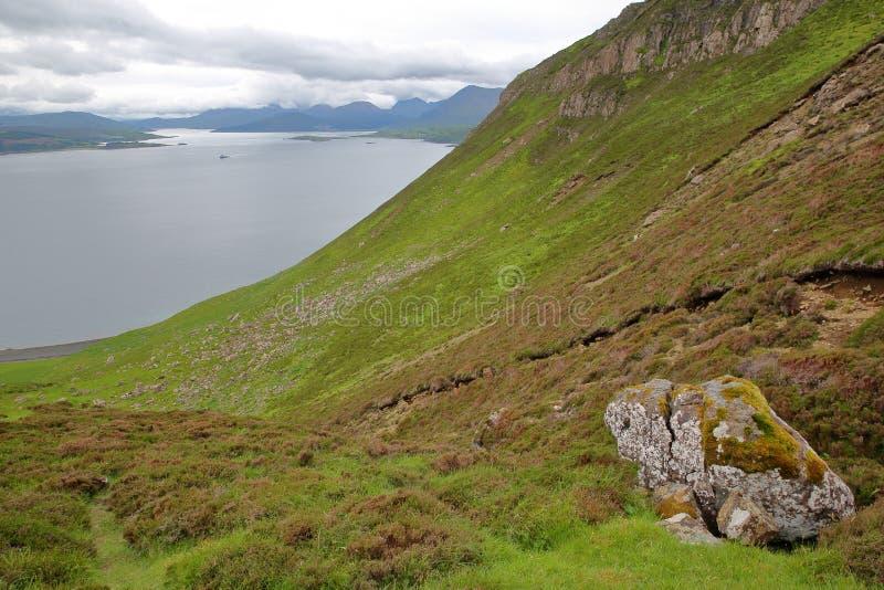 色五tian_从山往南部的本tianavaig,斯凯岛小岛,高地,苏格兰,英国的看法