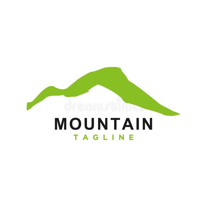 山或小山或者高峰商标设计传染媒介 向量例证
