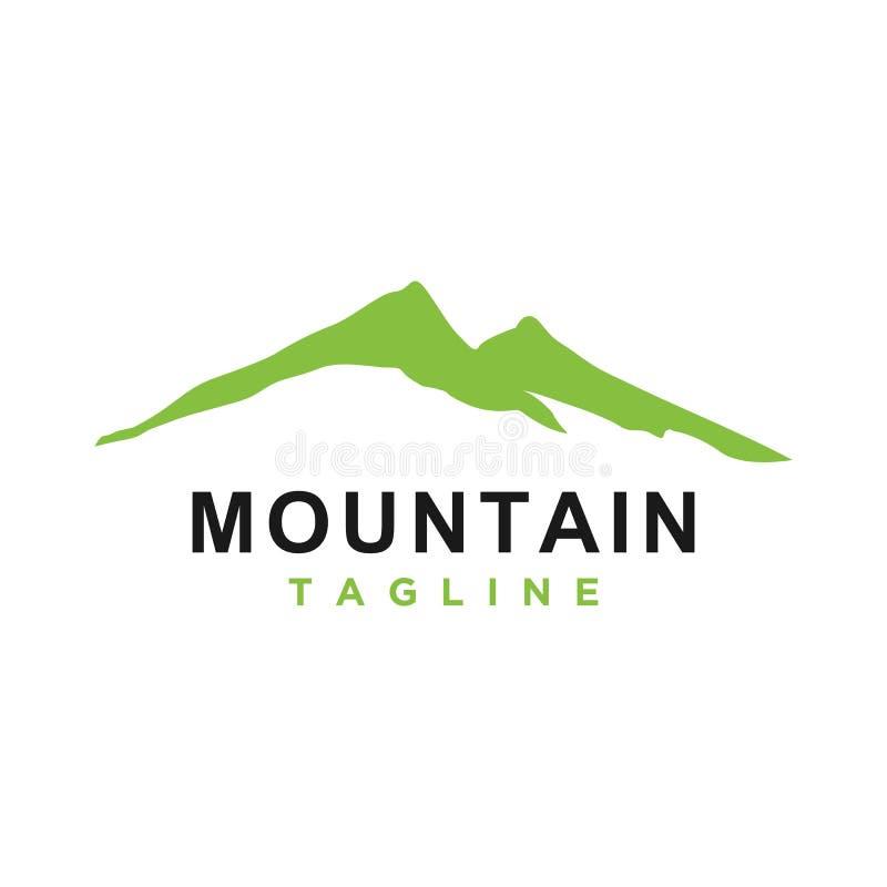 山或小山或者高峰商标设计传染媒介 皇族释放例证