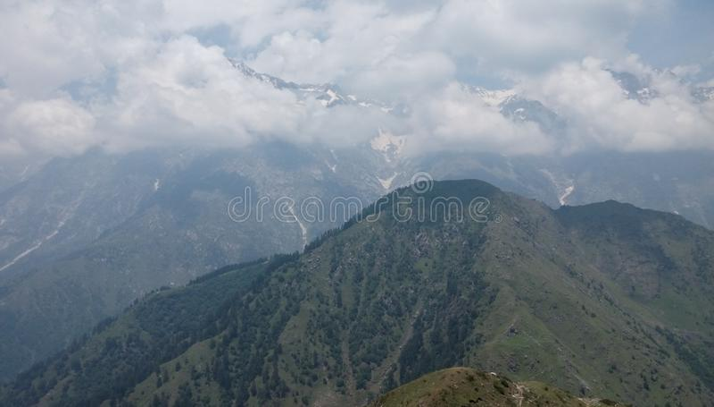 山是非常美丽的 免版税库存图片