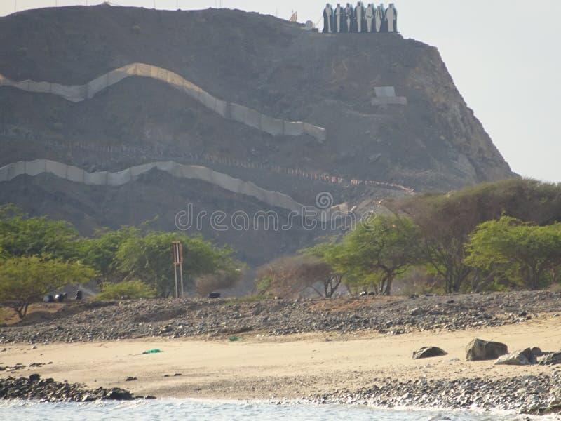 山景在富查伊拉-阿联酋 免版税库存照片