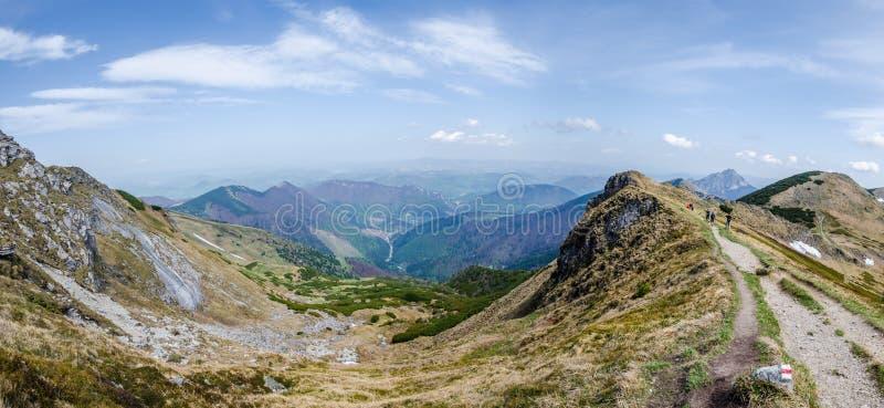 山景在Fatra 免版税图库摄影