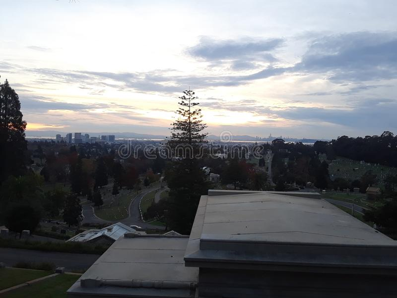 山景城公墓奥克兰坟园 库存照片
