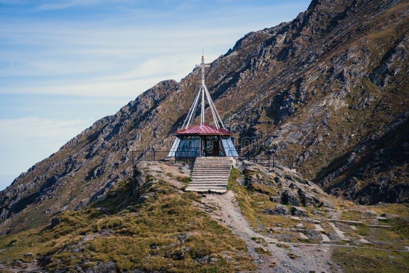 山景 Transfagarasan高速公路,最美丽的路在欧洲,罗马尼亚,Transfagarash Traval假期概念 免版税库存图片