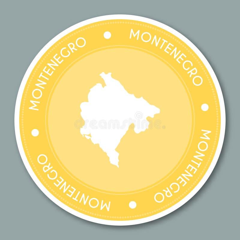 黑山标签平的贴纸设计 库存例证