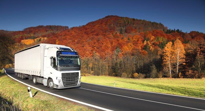 山比利牛斯路西班牙卡车 免版税图库摄影