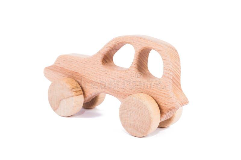 山毛榉一辆木汽车的照片  库存图片