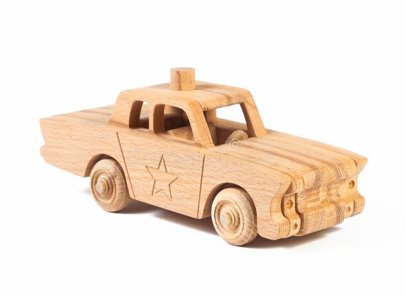 山毛榉一辆木警车的照片  免版税库存图片