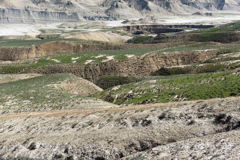 山沟在一个多小山区域 免版税图库摄影