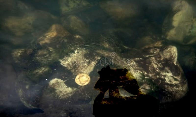 山河自然水纹理背景  库存图片