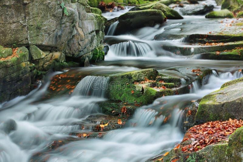 山流在秋天 免版税库存照片