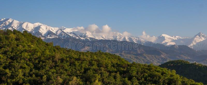 山环境美化,天山山,阿尔玛蒂,哈萨克斯坦 免版税库存图片