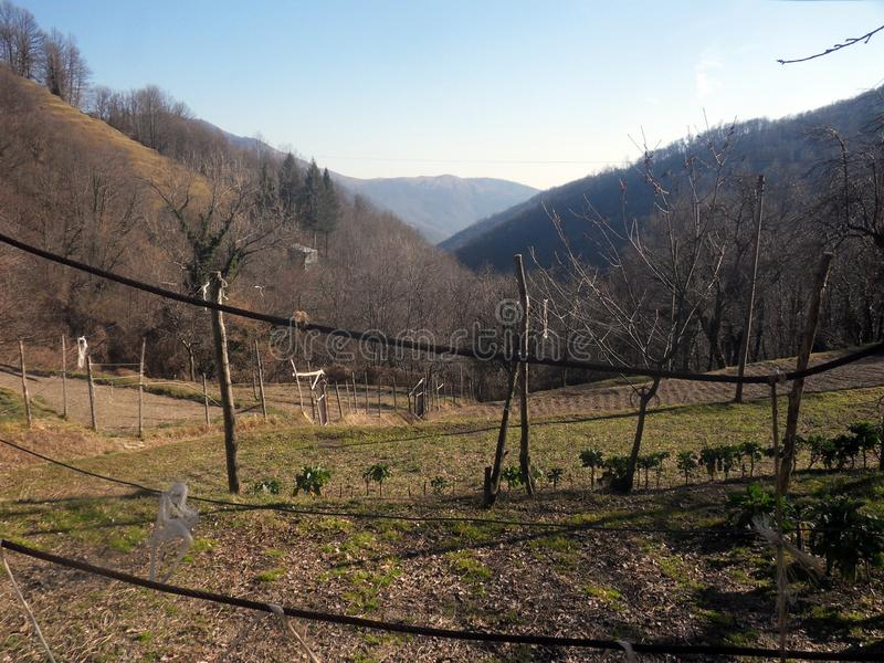 山生活习俗在一个小的村庄 免版税库存图片