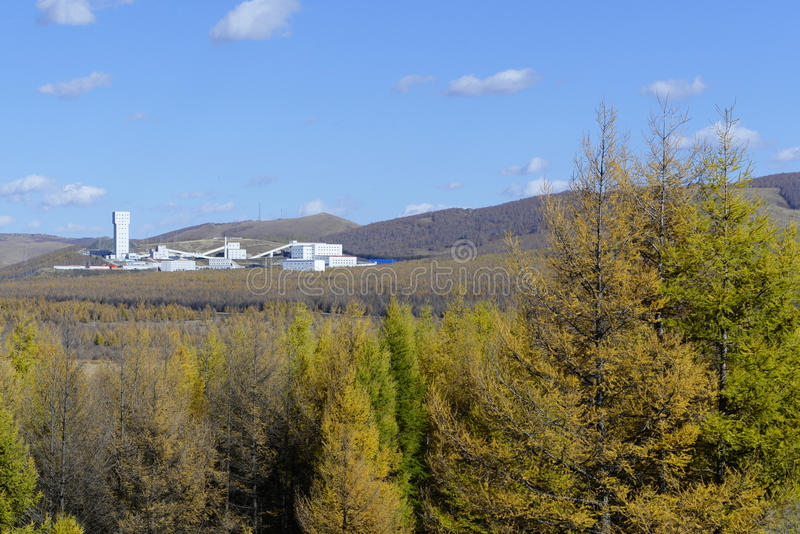山的工厂 免版税图库摄影