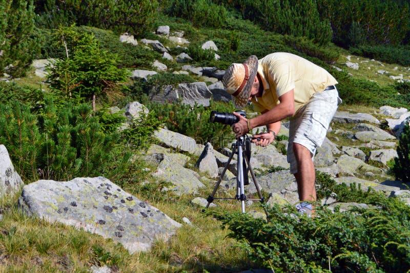 山的新摄影师 免版税图库摄影