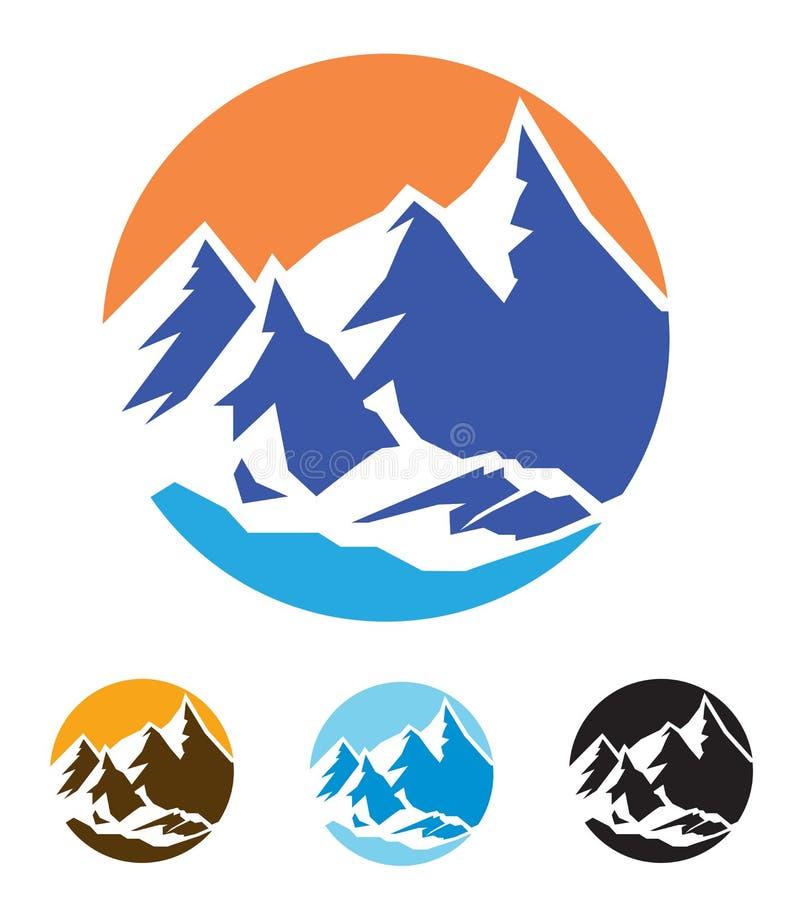 山的标志 库存例证