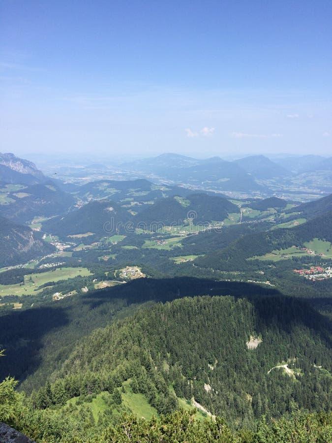 从山的看法在奥地利 库存图片