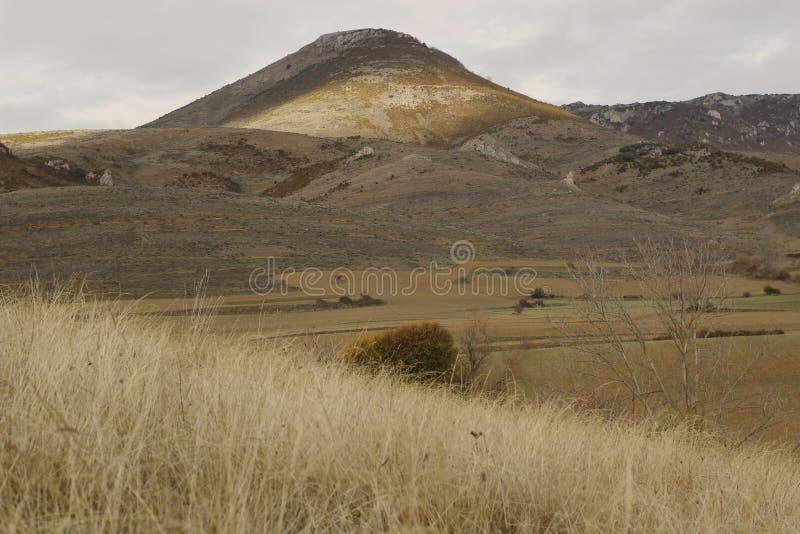 山的看法 库存照片