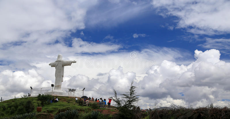 山的耶稣 库存照片