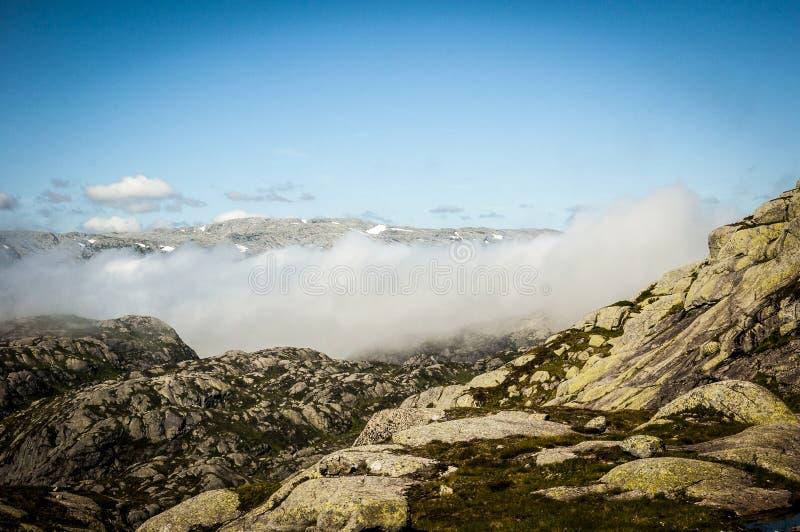 山的顶层 免版税库存图片
