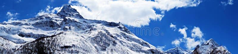 山的顶层 免版税库存照片