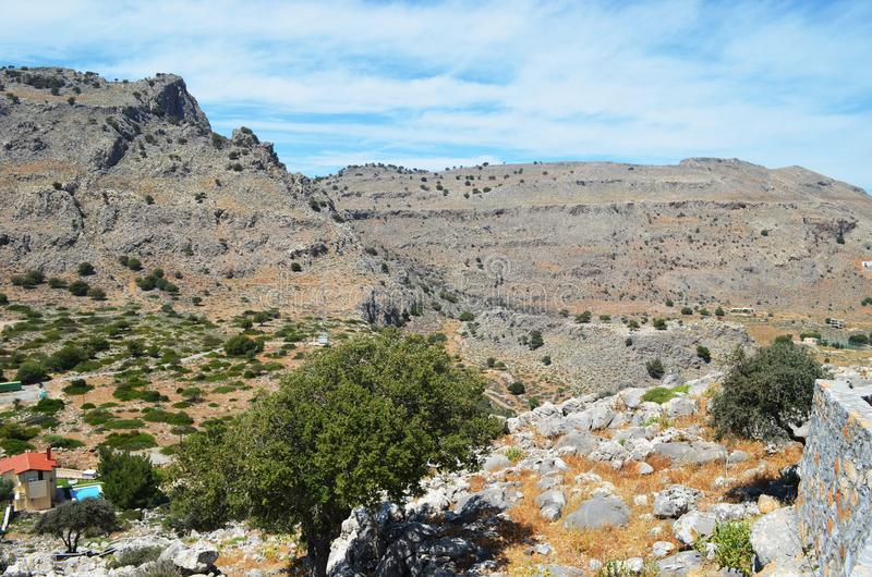 山的顶视图 免版税库存图片