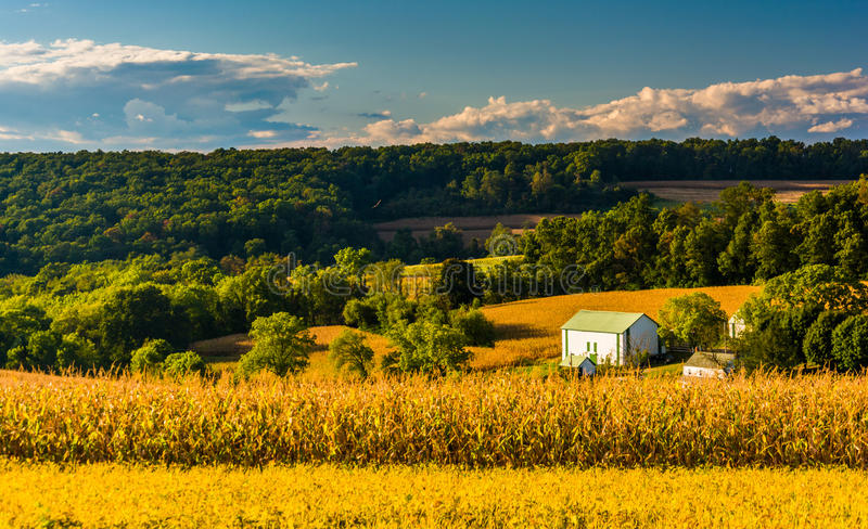 绵延山看法临近发怒路,宾夕法尼亚 免版税图库摄影
