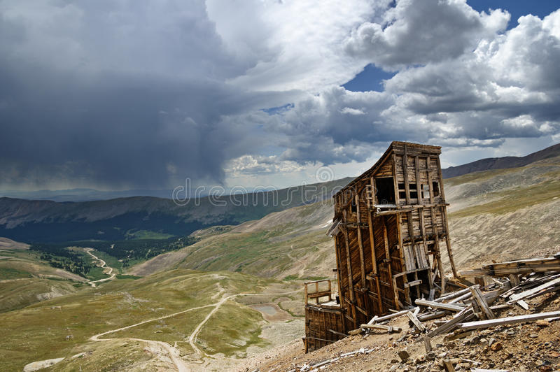 山矿废墟 库存图片
