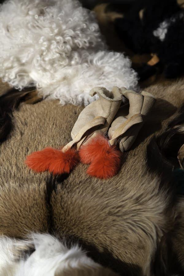 山羊剥皮毛皮 免版税库存照片