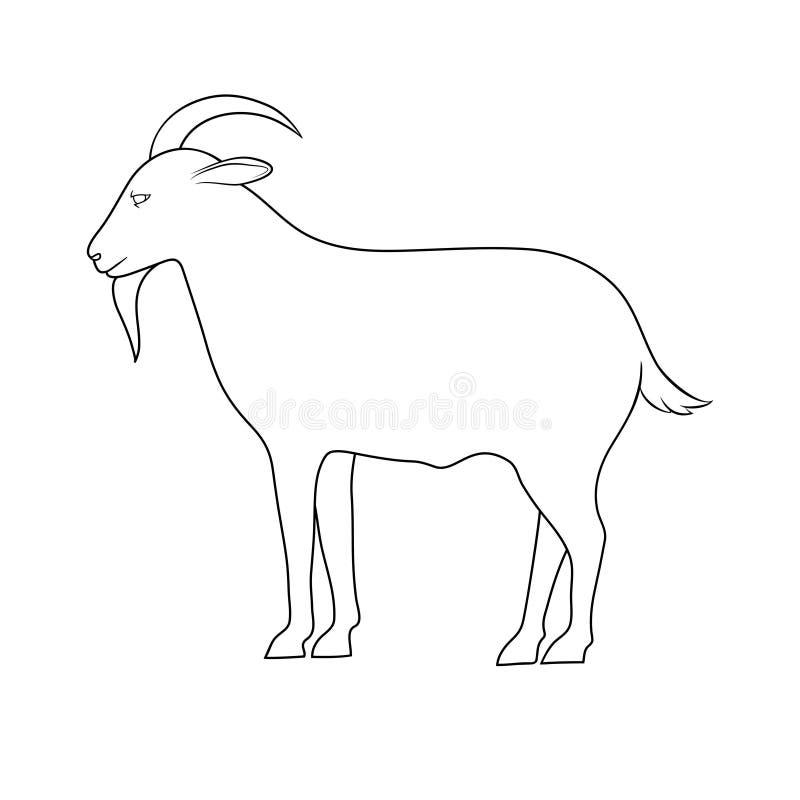 山羊剪影  向量例证