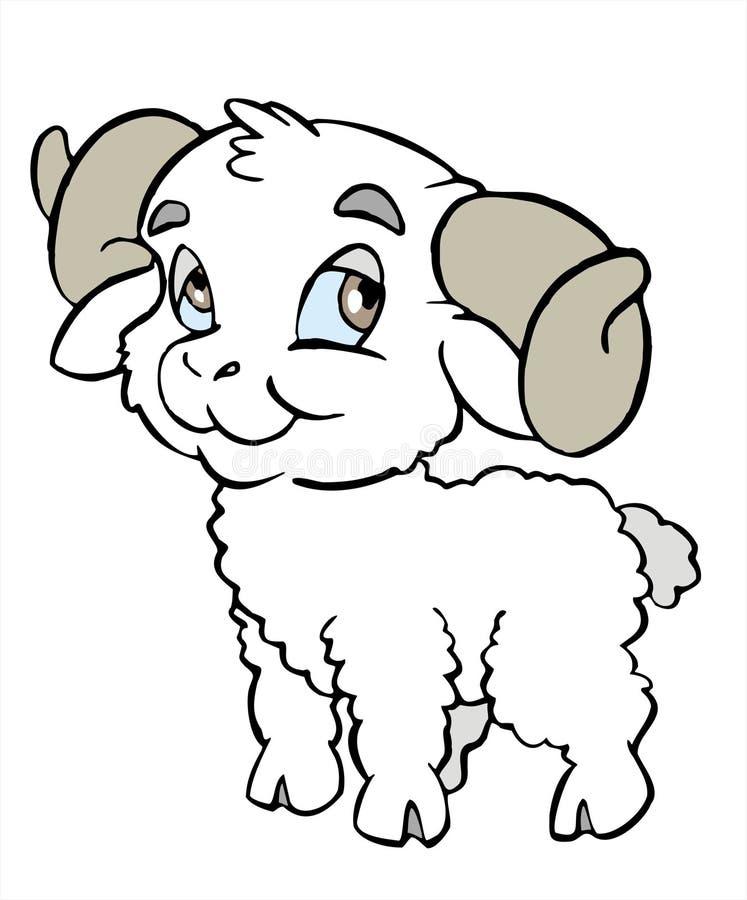 山羊座符号 向量例证