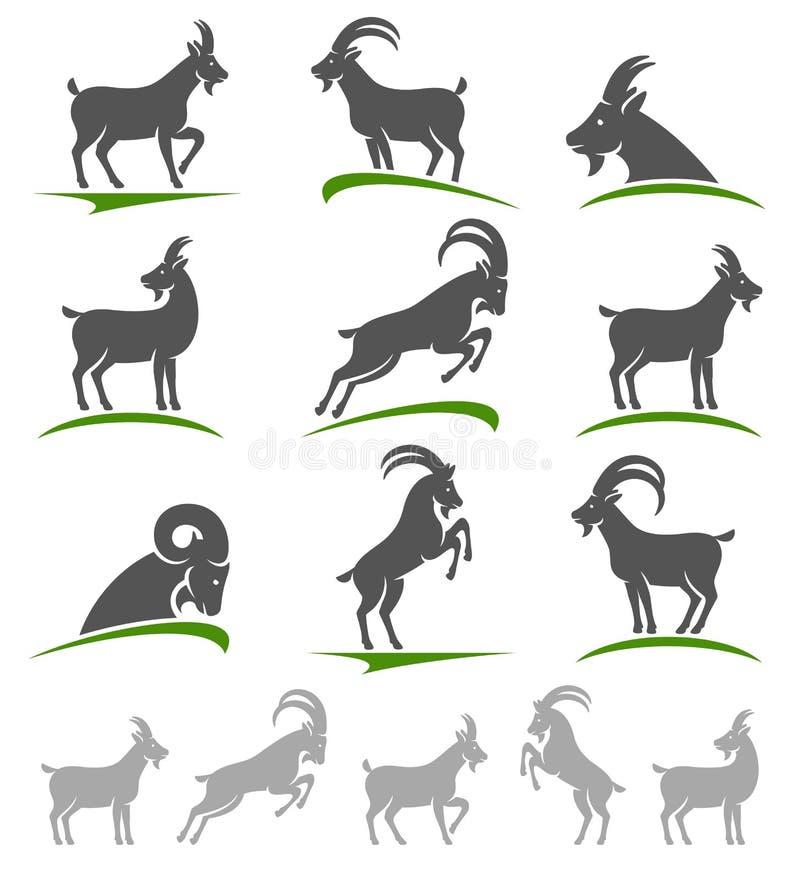 山羊集合 向量 皇族释放例证