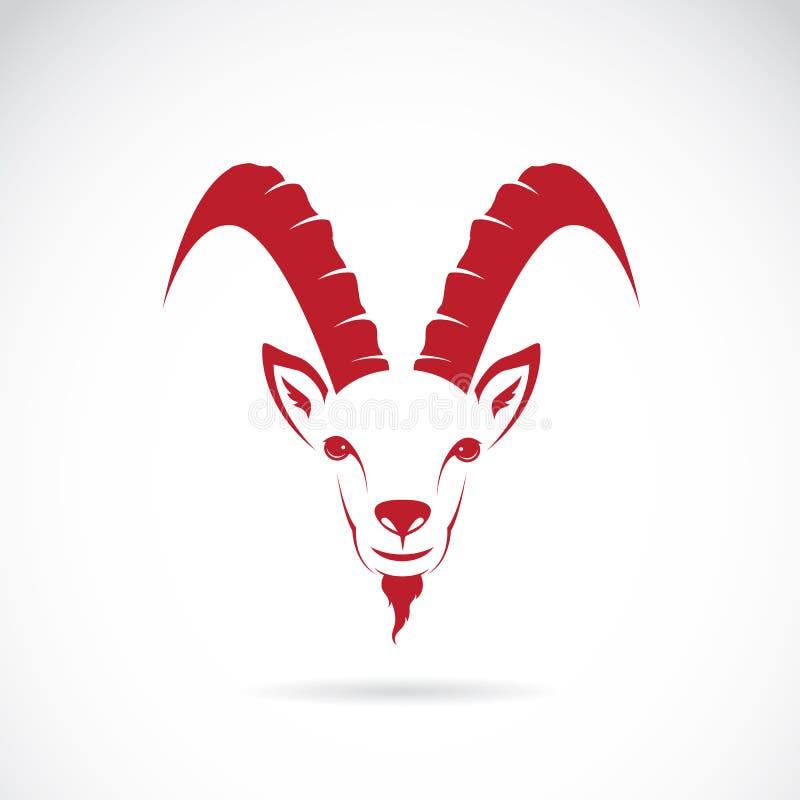 山羊(羚羊)的传染媒介图象 库存例证