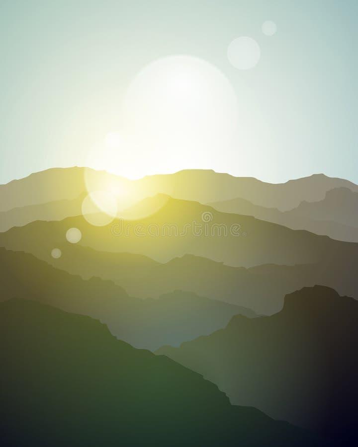 山背景 库存例证