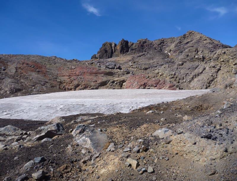 从山脉在辣椒的nevado土坎的顶端看法 库存图片