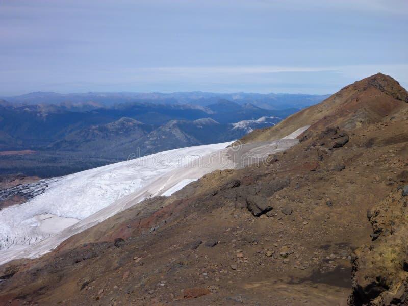 从山脉在辣椒的nevado土坎的顶端看法 免版税图库摄影