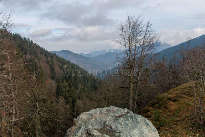 山脉场面在秋天 免版税库存照片