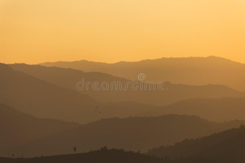 山脉层数  图库摄影