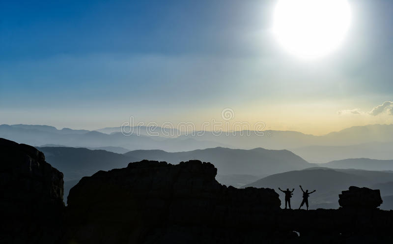 山脉巨大看法  库存照片