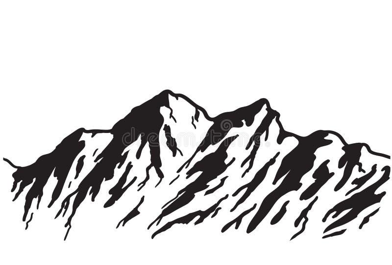 山脉 库存例证