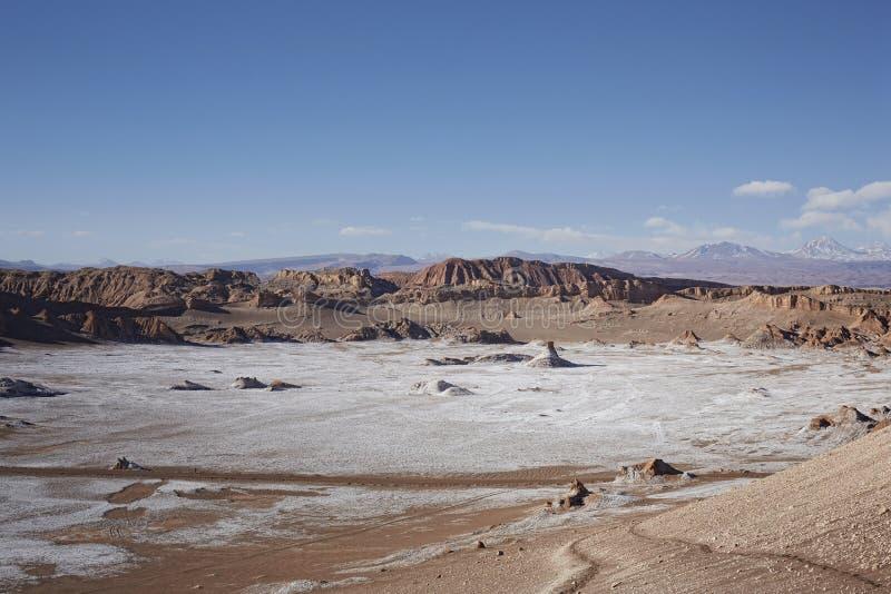 山脉del Sal,圣佩德罗德阿塔卡马,智利 免版税库存图片