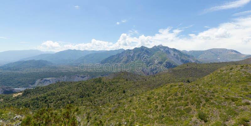山脉Velluda风景,在拉古纳de Laja国家公园 免版税库存照片