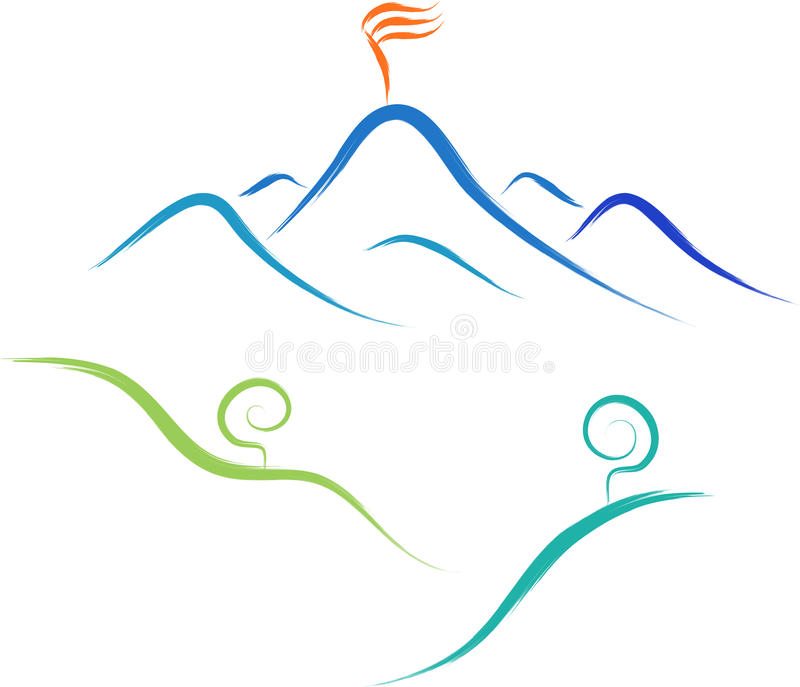 山自然商标 向量例证