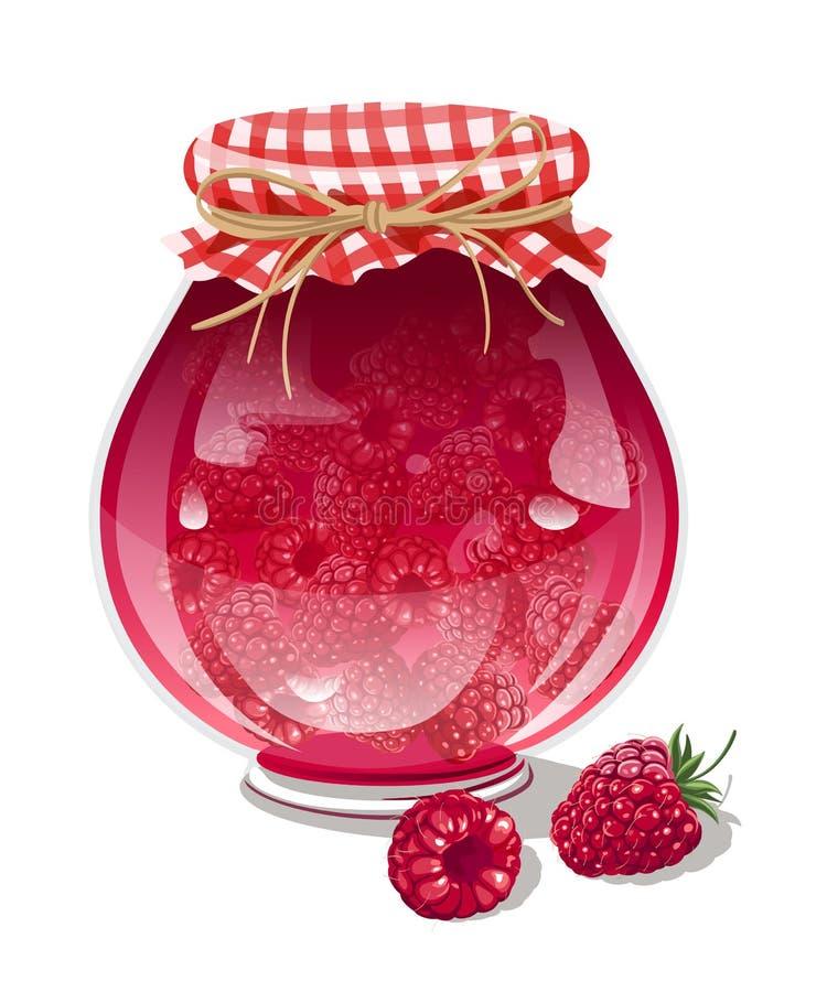 山莓果酱 库存例证